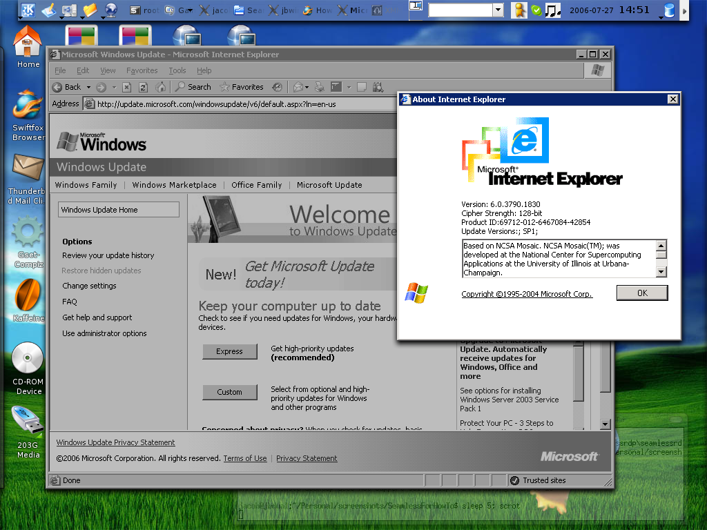 HowTo install rdesktop 1 5 including SeamLess Windows and much more